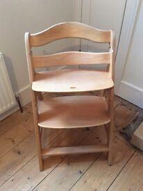 Hauck wooden high chair