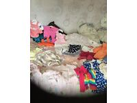 Bundle of girls clothes most are age 6-9 months