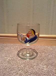 Hand painted beer glass