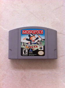 Nintendo 64 Game Cartridge Monopoly N64