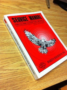 Factory Harley Serice Manual - 1985 to 1990 Softail
