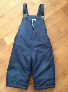 MINT Condition Navy Blue Snowpants, Size 18 mths
