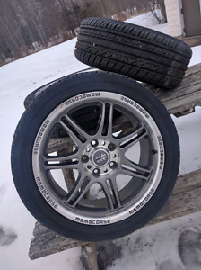 205/50/17 Summer tires with rims