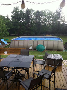 wanted new rectangular Bestwayultra frame 22 ft pool in the box