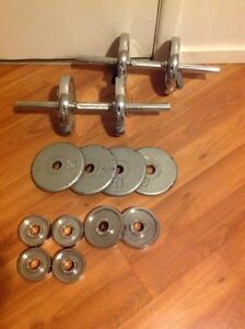 Dumbbell weight set/workout set $50 Kitchener / Waterloo Kitchener Area image 1