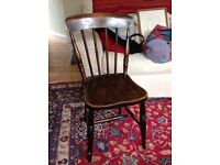 FREE 4 country kitchen antique dining chairs.