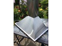 Silver kitchen hood