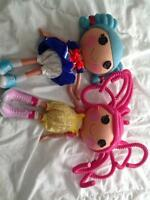 First generation sailor and silly hair lalaloopsy dolls