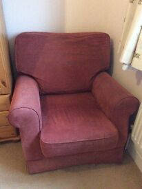 Material pink patterned armchair FREE!