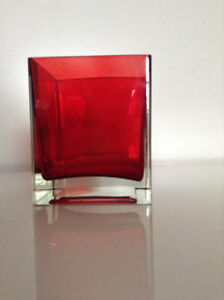 BRAND NEW Hand-blown Italian Glass Candle Holder or Small Vase
