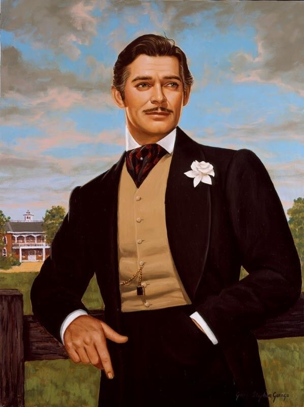 Clark Gable as Rhett, Gone with the Wind, by Gary George