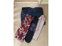 Size 16 maternity bundle jeans jeggings tops over the bump