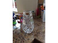 Crystal glass vase