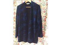 Vintage top & jacket size 14 blue & black sparkle.