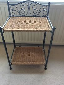 Wicker Bed side tables - matching pair