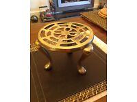 Antique brass trivet