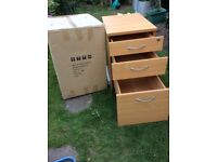 Brand New Tall MOBILE PEDESTAL- 3 Drawers including Filing Drawer.