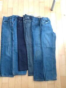 Lot 6 paires pantalons jeans garçon gars 14 ans ado adolescent