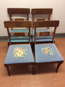 Duncan Phyfe needlepoint chairs