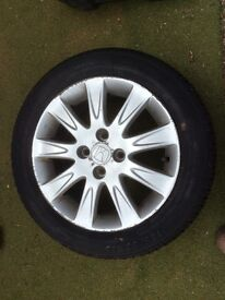 Honda wheel and tyre