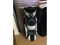 Powakaddy cart trolley golf bag leather waterproof