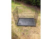 Foldable dog cage medium size