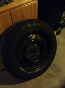 Winter Wheels and Tires 15 inch Studded