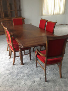 Dining Room Table c/w 6 Chairs and China Cabinet
