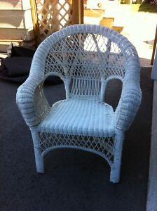 White Wicker Chair for Sale