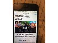 Boomtown chapter 8 weekend ticket