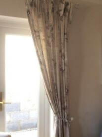 "Next Floral curtains 168 x229cm (66x90"") shabby Chic"