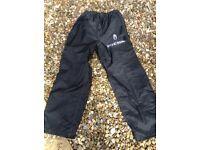 Waterproof motorcycle over trousers