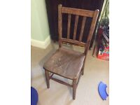 Solid wood chair goes well with the desk on our listing