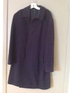 Manteau d'hiver pour homme laine et cachemire Marine