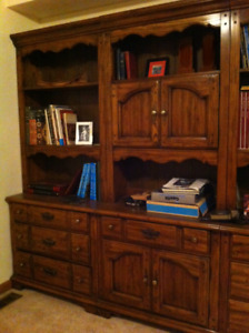 Bookcase, Cabinet, 3 Units with desk - Hardwood, Great Condition