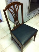 Vintage Leather Seat Chair