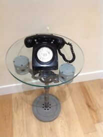 Vintage Original GPO phone, black or red 1960/70s rewired for modern use