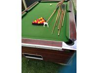 Super league 6ft slate bed pool table