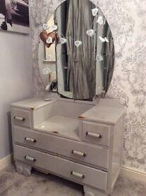*Dressing Table & Mirror* shabby chic