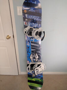 GNU Carbon Credit Snowboard, Burton Boots, and Union Bindings