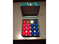 Aramith Pool Balls Premier GOLDEN 8 BALL Edition Red & Blue