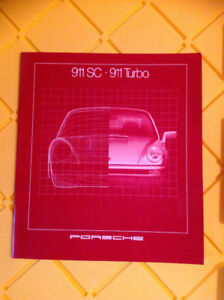 Porsche 911SC & Turbo Prestige Catalogue Brochure (French Text)