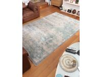 Turquoise blue vintage faded rug by Safavieh from Wayfair. Worth £300. Mint condition.