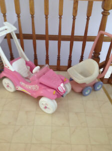 Dolly mobile and Little Tyke doll stroller