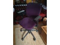 Purple office desk chair