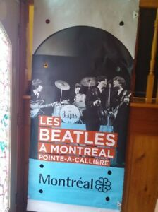 6 ft tall Beatles Montreal museum banner