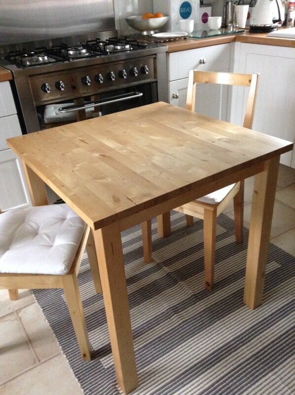 Ikea Norden Table Amp 2 Bertil Chairs With Seatpads In