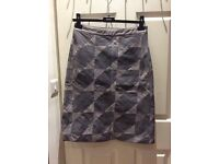 REISS Patchwork Skirt RRP £135 size 10UK