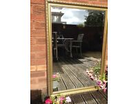Large heavy bevelled edge mirror