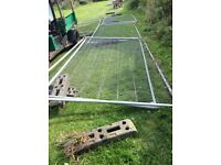 Used Heras fencing,2 x 3.4m,with feet and clips.£10.00 per panel.